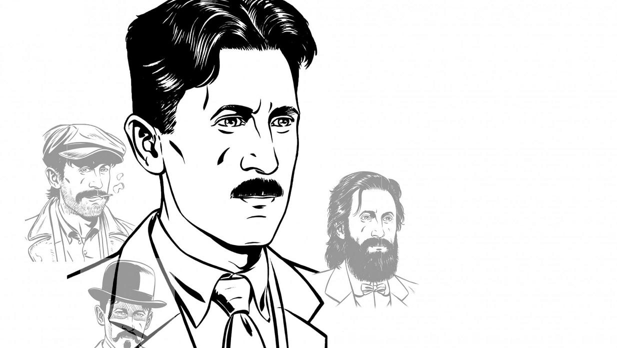 La graphic novel che racconta la vita dello scrittore George Orwell