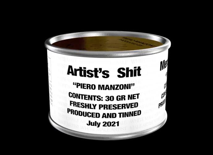 La merda d'artista diventa digitale