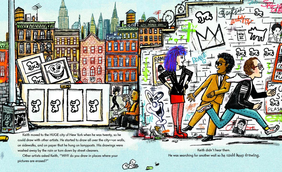 Keith Haring: la biografia a fumetti di uno degli artisti – icona del secolo scorso