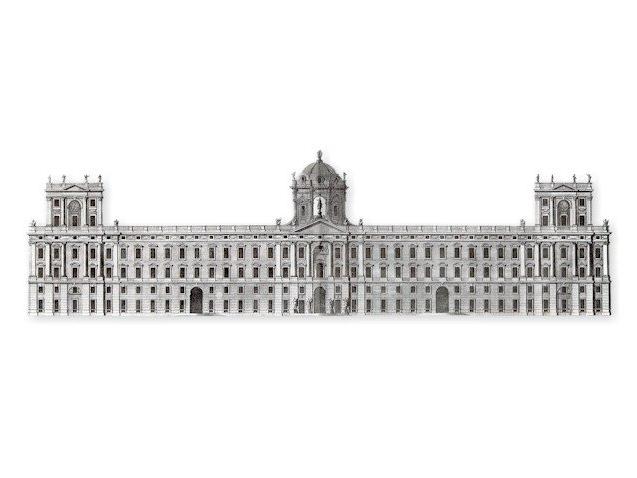 Disegno di Luigi Vanvitelli, la Reggia di Caserta
