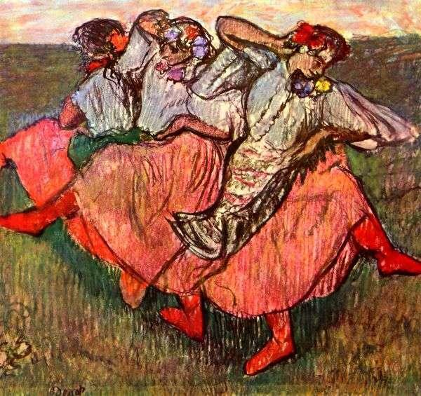 Edgar Degas Tre Ballerini Russi quadro